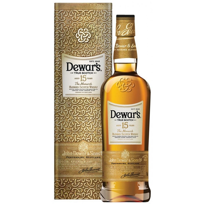 akce Dewar's The Monarch 15 Year Old Blended Malt Scotch Whisky 1l