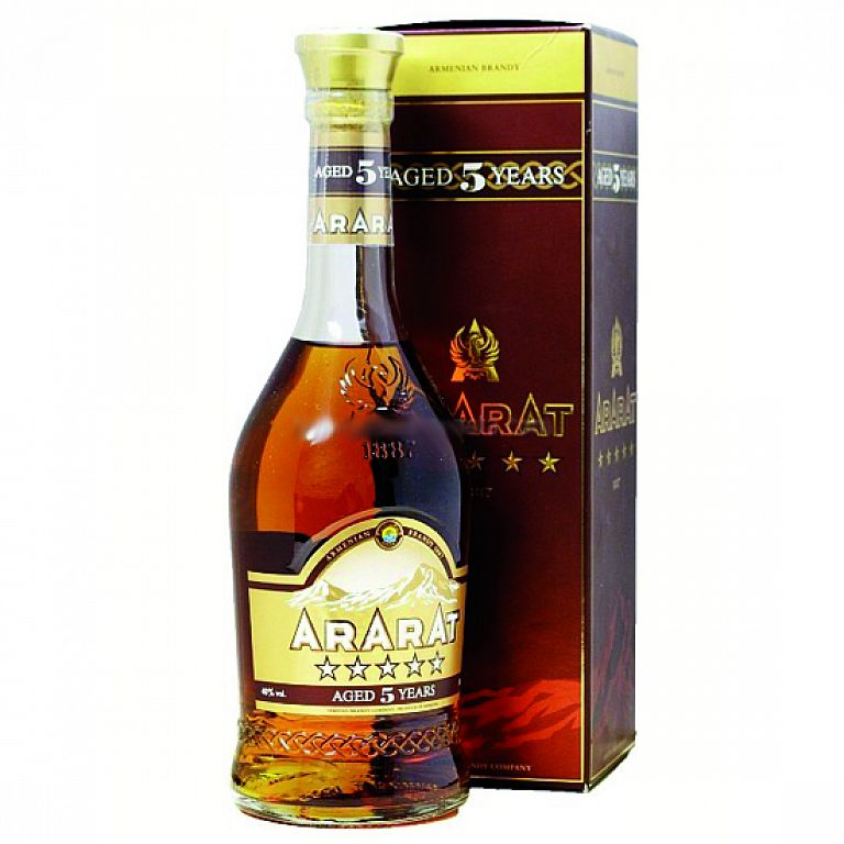 Ararat Five Stars Aged 5 Years Old Armenian brandy 0,7