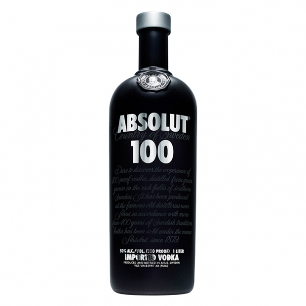 Absolut 100 vodka 1l
