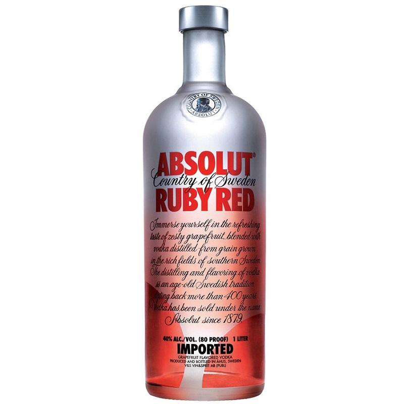 Absolut Ruby Red vodka 1l