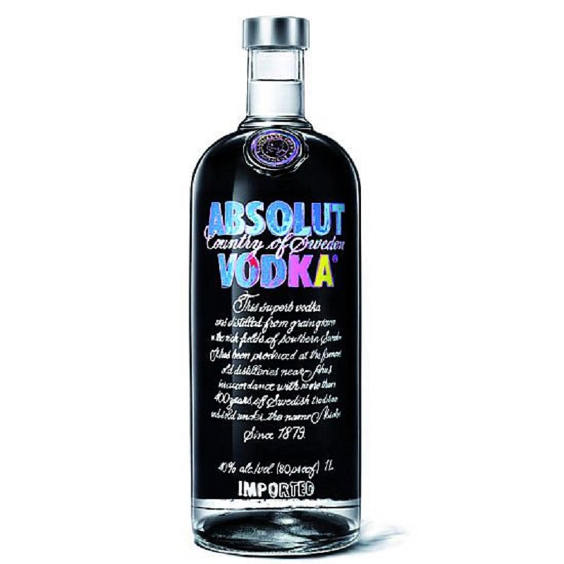 Absolut Black Edition vodka by Andy Warhol 1l