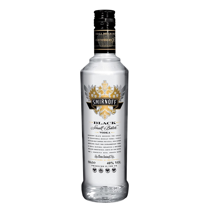 - Smirnoff Black Small Batch vodka 1 litr