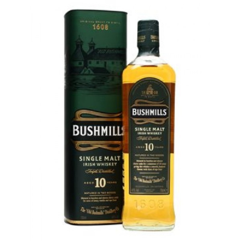 - Bushmills 10 Year Old Single Malt Irish whiskey 0,7l