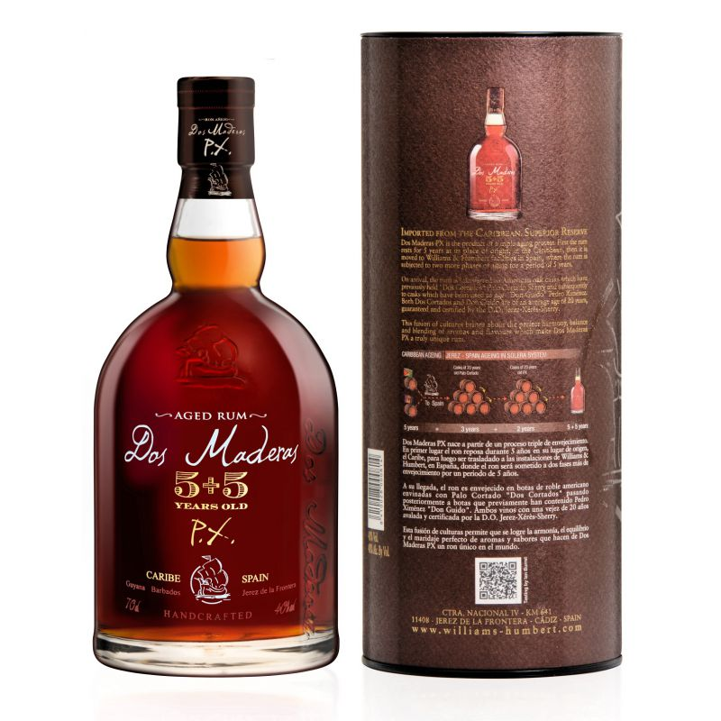 - akce a sleva Dos Maderas P.X. 5+5 - 10 years old rum 0,7l