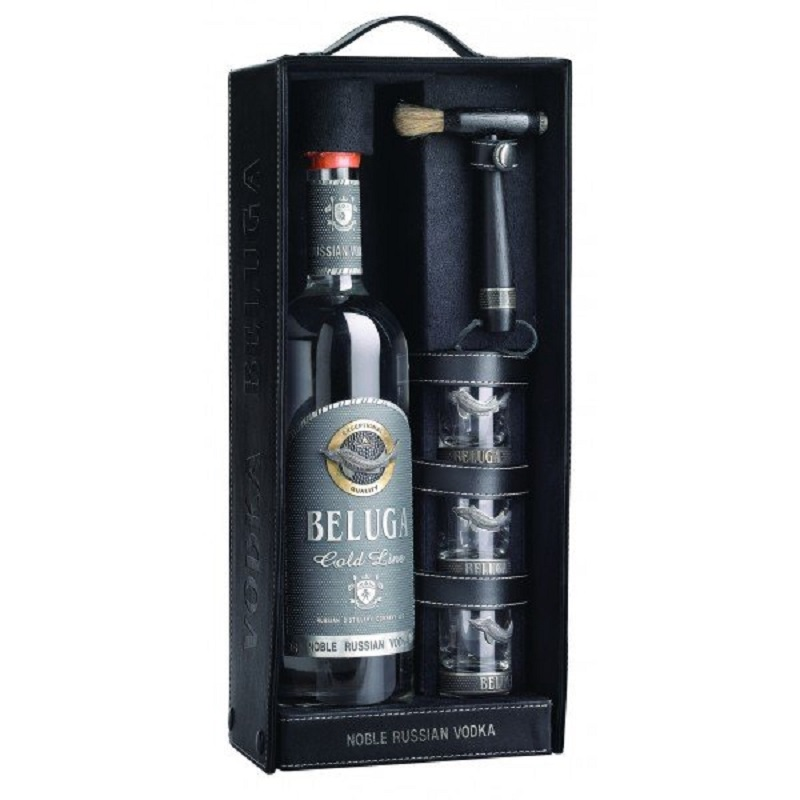Beluga vodka Gold Line Leather gift box