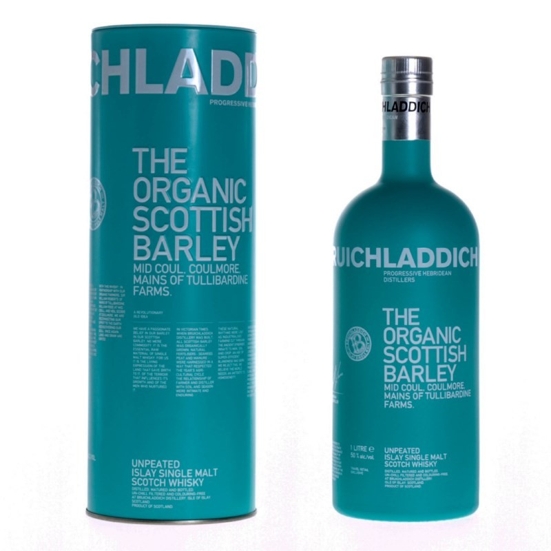 Bruichladdich Organic Scottish Barley whisky 1l
