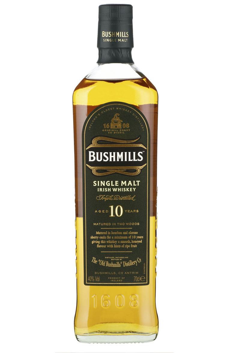 Bushmills 10 Year Old Single Malt Irish whiskey 1L