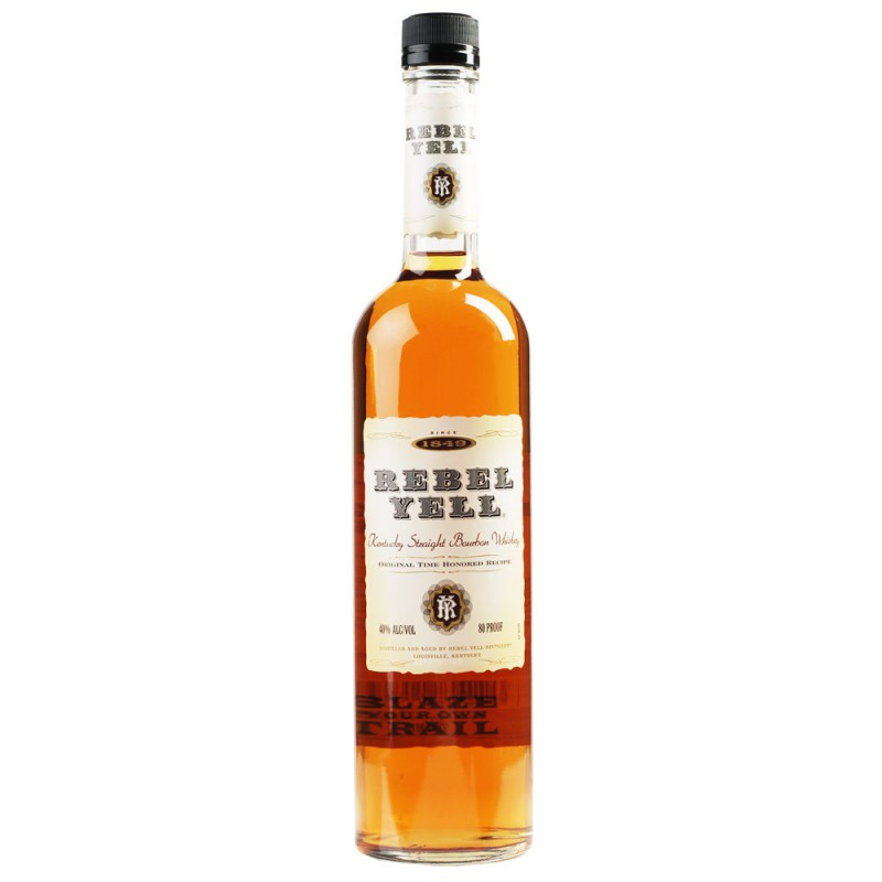 - Rebel Yell Straight Bourbon whiskey 0,7