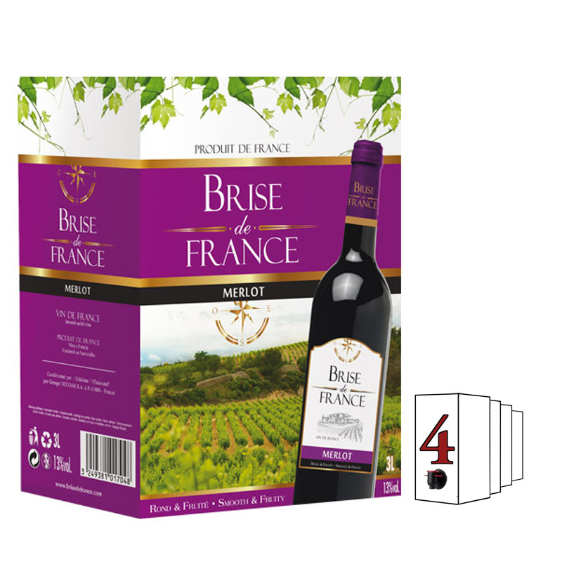 Brise de France Merlot 3l Francie Bag in Box