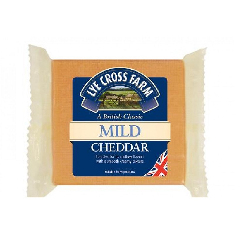 Lye Cross Farm English Mild Coloured Cheddar sýr 200g