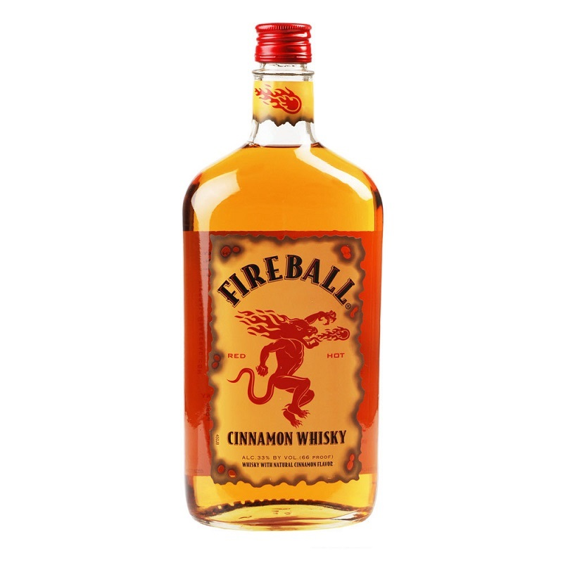 Fireball Cinamon & Canadian whisky liqueur 33% 1l