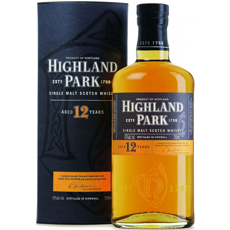 Highland Park 12 Year Old Single Malt Whisky 0,7l