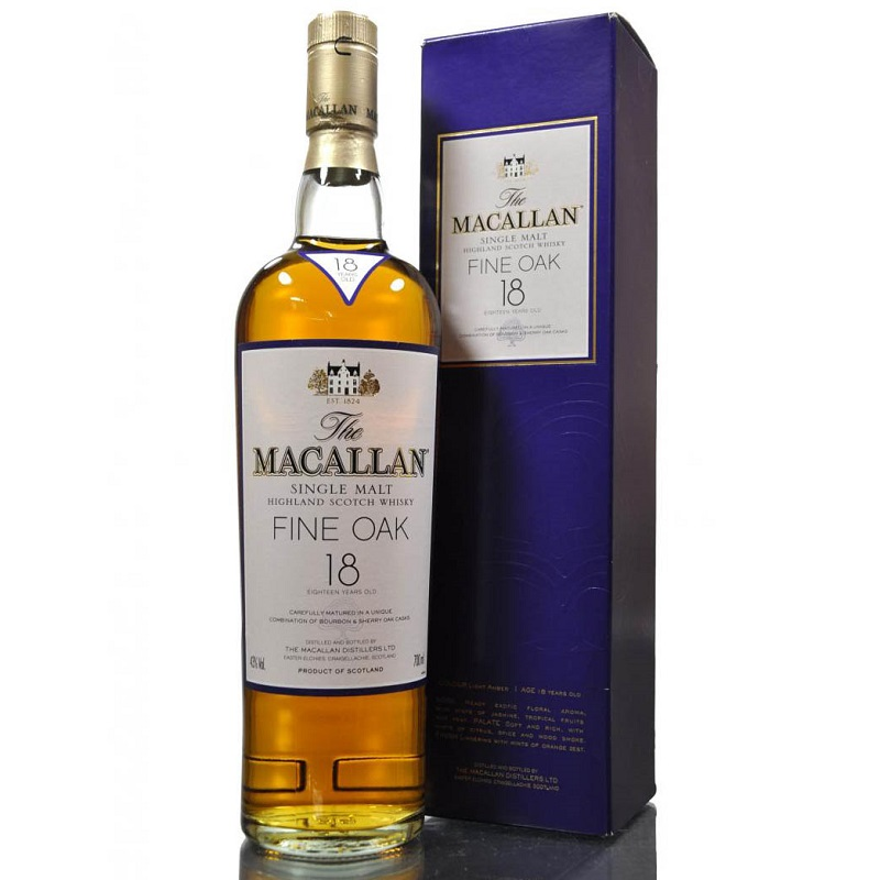 Macallan 18 yo Fine Oak whisky 0,7l