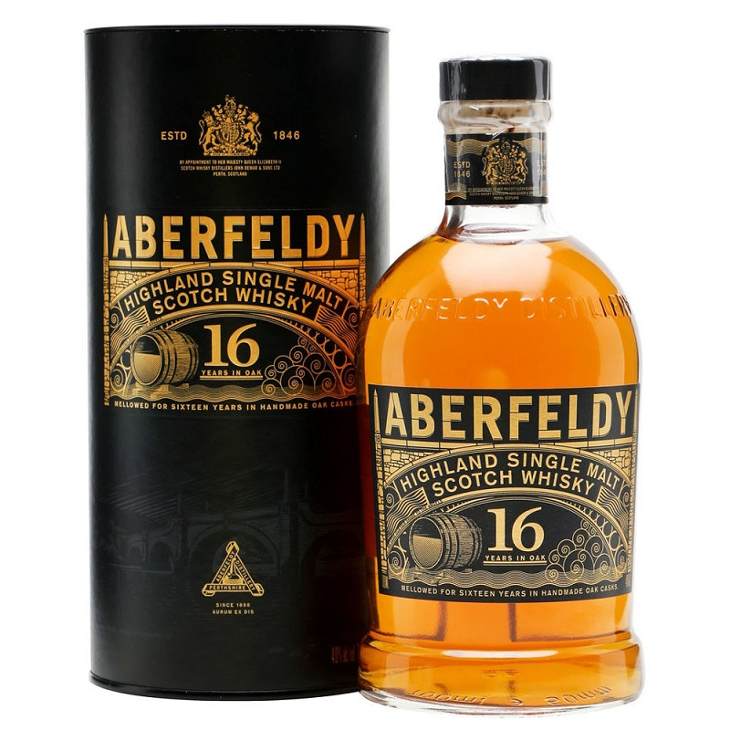 Aberfeldy Limited release 16 year old single malt Highlands whisky 0,7