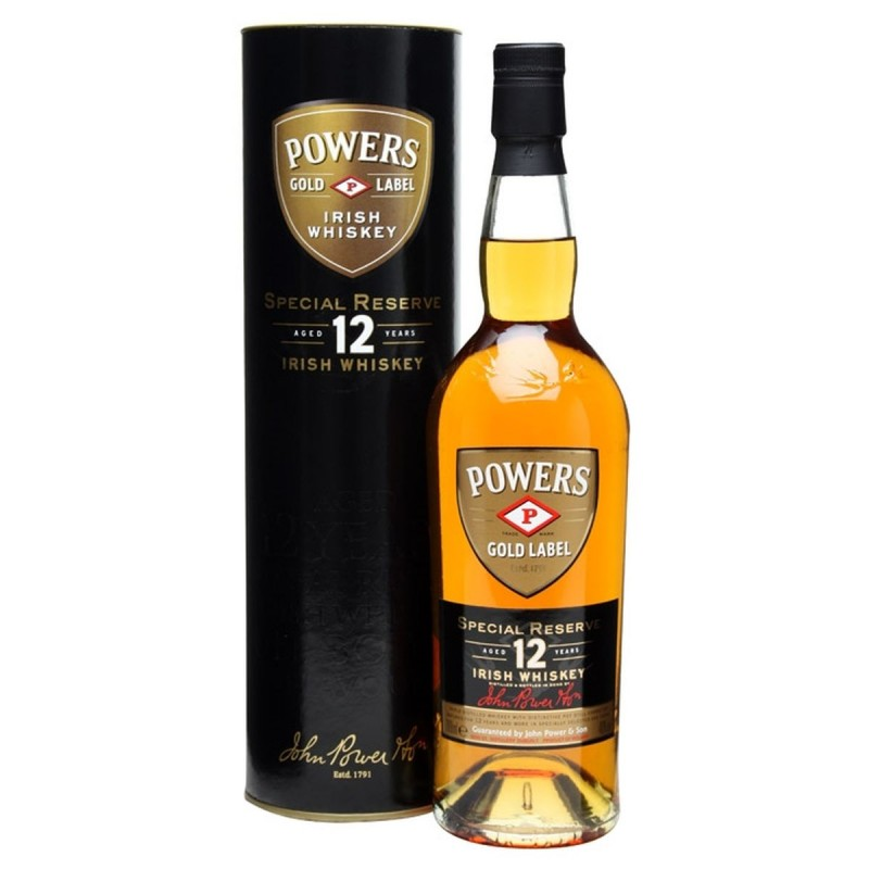 Powers Gold Label Special Reserve 12 Year Old Blended Irish Whiskey 0,7l