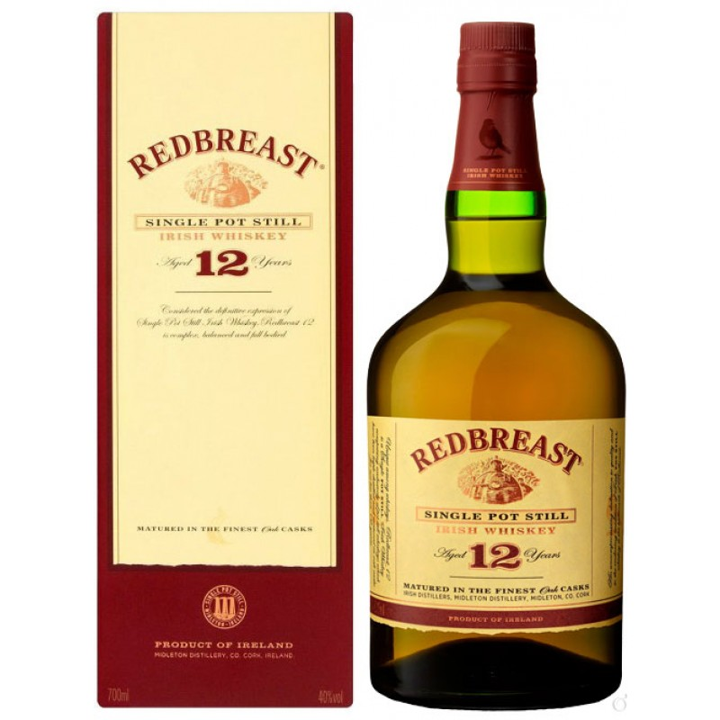 RedBreast 12 yo Pure pot still Irish whiskey 0,7