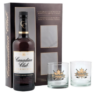 Canadian Club Classic whisky gift box