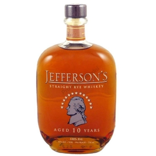 Jefferson's Rye 10 Years Old whiskey 0,7