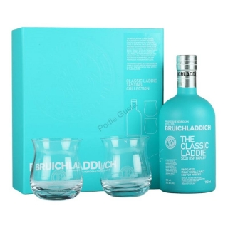 Bruichladdich Scottish Barley Classic laddie 2 glass pack Islay whisky