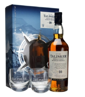 Talisker 10 Year Old 2 Glass Pack whisky 0,7