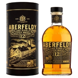Aberfeldy Limited release 12 year single malt Highlands whisky 1l
