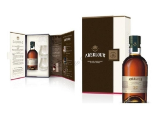 Aberlour 16 Year Old - Double Cask Scotch Whisky 2 glasses Gift pack