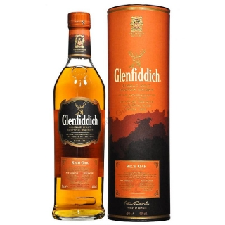 Glenfiddich 14 Year Old - Rich Oak Scotch Metel box whisky 0,7