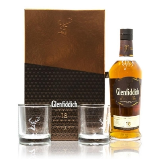 Glenfiddich Small Batch Reserve 18 Year Old 2 Glass Gift set whisky