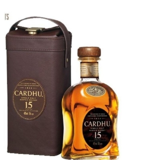 Cardhu 15 yo whisky old with Leather box 0,7