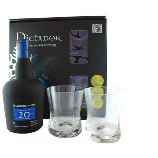 Dictador 20 Year Old Rum Glass Pack 0,7