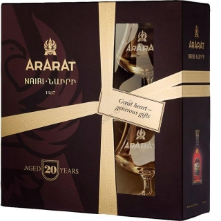Ararat Nairi 20 Years Old 2 Glass Pack brandy 0,7