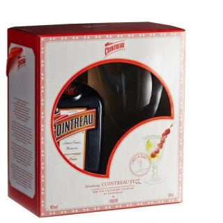 Cointreau 2 Glass Gift Pack liguer 0,7