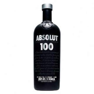 Absolut 100 Black vodka 1l