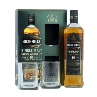 Bushmills 10 Year Old Single Malt Irish whiskey v dárkové kazetě