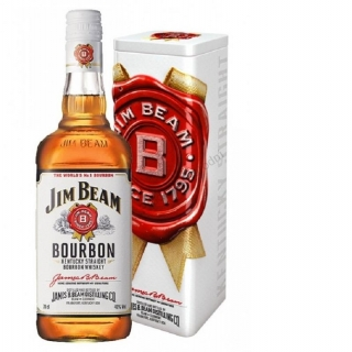 Jim Beam White Label Kentucky Straight Bourbon Whisky 0,7 v plech