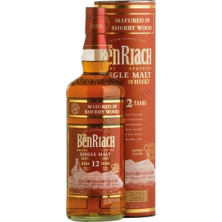 Whisky BenRiach 12 Year Old Sherry Wood Scotch 0,7
