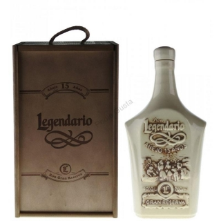 Legendario  Grand Reserva 15 Years Old Ceramic Decanter rum 0,7l