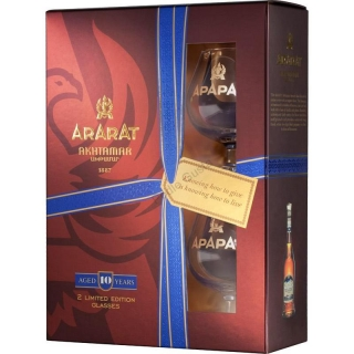 Ararat Akhtamar 10 Years Old 2 Glass Pack brandy 0,7